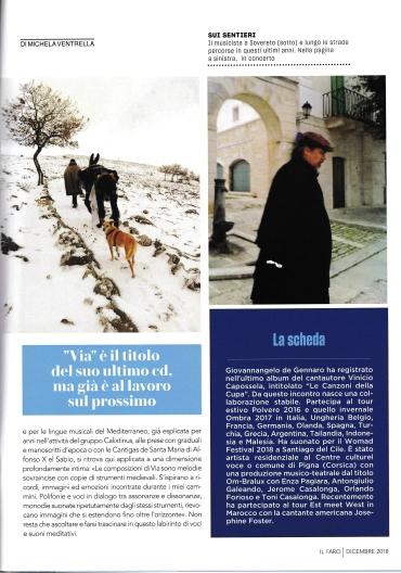 Articolo Michela Ventrella - numero Faro dicembre-2